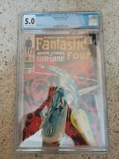 Fantastic Four 72 Cgc 5.0 Classic Jack Kirby Silver Surfer Cover Silver Age Mas