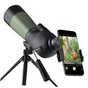 20-60x60 Hd Spotting Scope With Tripod Carrying Bag And Scope Phone Adapter