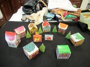 Jeanmarie Creations Christmas Village 15 Pieces Christmas Decorations