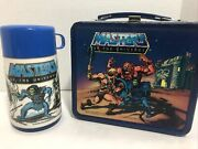 Vintage 1984 Aladdin He-man Masters Of The Universe Metal Lunchbox With Thermos