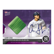 Aaron Judge 2021 Topps Now 651c On-card Auto Corn Relic /25 Field Of Dreams