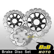 Brake Disc Rotor Set Front Rear For Suzuki Rf 600 Rgn76a 93 94 95 96 97