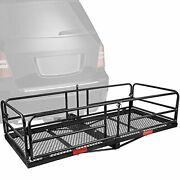Hitch Mount High Side Cargo Carrier Rack 360 Lbs Folding Luggage Basket