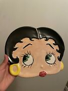 1997 Betty Boop Ceramic 3d Dish Collector Plate Tray Trinket Holder