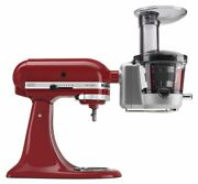 Kitchen Aid Stand Mixer Slow Juicer And 3 Pulp Screens Multipurpose Power Red