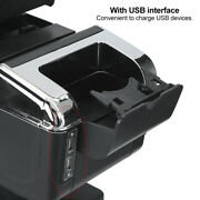 Universal Car Center Console Armrest Box Container Adjustable With Usb Accessory