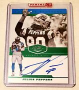 Julius Peppers 2019 Panini Plates And Patches Auto Autograph Card 2/10