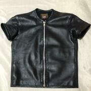 Vanson Authentic Mesh Leather Short Sleeve Jacket Size Sm Used From Japan
