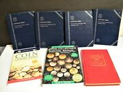 Whitman Coin Album Collection Lincoln Cent Lot 4 And 4 Books Reference Bundle