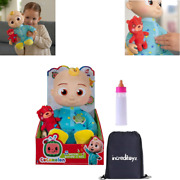 Cocomelon Musical Bedtime Jj Doll With Magic Bottle Set - 7 Sounds And Phrases