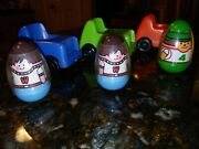 Vintage Weebles Chairs Figures Boy Dad Race Cars Hasbro Wobble Camper Lot