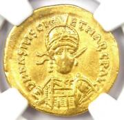 Basiliscus And Marcus Av Solidus Gold Coin 475-476 Ad - Certified Ngc Choice Vf