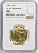 2009 20 Gold Double Eagle Ultra High Relief Ngc Ms69 See Description