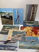 Postcard Lot Airplanes Vintage Twa Eastern Airlines Jat Pan Am And More 9 Total