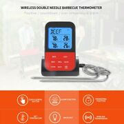 Wireless Meat Thermometer Oven Smoker Bbq Grill Remote Digital Food Probe
