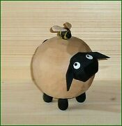 Wood Figure Christmas Sheep Gustel With Hummel, Large Height Approx 5 5/16in