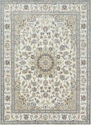 Fine Nain 9and039x12and039 Ivory Wool Hand-knotted Oriental Rug