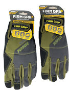 Firm Grip Tough Working Gloves General Purpose Extra Large - Lot Of 2 Prs - New
