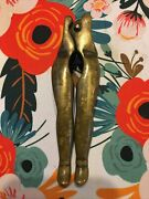 Antique Heavy Brass Risque Nut Cracker In The Shape Of Woman's Legs Thighs