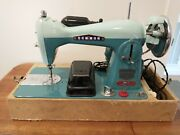 Vintage Sewmor 250 Sewing Machine Case And Manual - Beautiful Condition And Tested
