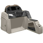 Pontoon Boat Steering Console 180831-01   51 1/4 Inch Taupe Black