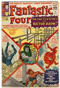 Fantastic Four 17 5th Doctor Doom Early Antman Cameo Jack Kirby Vg- 3.5