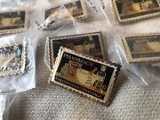 1972 Pharmacy United States Postage 8 Cent Stamp Metal Pin Usps Lot Of 24 New