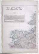 1864 Large Antique Map Ireland North West Sheet Mayo Clew Bay Donegal Bay