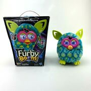 Hasbro Furby Boom Figure Blue Green Peacock Interactive Talking Toy 2012 Tested