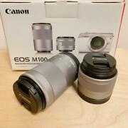 Canon Eos Lens Ef-m55-200mm F4.5-6.3 Ef-m15-45mm F3.5-6.3 Is Stm