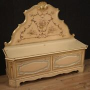 Chest Venetian In Lacquered Wood Bench Furniture Vintage Antique Style 900