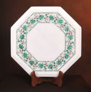 2and039 Marble Dining Table Top Inlay Rare Stone Octagon Center Coffee Table Er