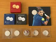 Roger Federer 🇨🇭 Full Collection 2020 Commemorative Gold And Silver Coins