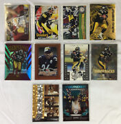 Pittsburgh Steelers Lot Of 10 Football Cards Ben Roethlisberger Jerome Bettis