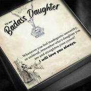 To My Daughter Necklace Silver Crown Necklace Daughter Gift From Mom Dad