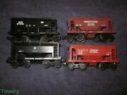 4 Lionel Trains Ore Cars 6-6116, 6122, 6126 6127 Soo Canadian National Pc And Np