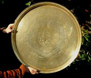 Antique Brass Jew Star Of David Jewish Star Very Large Indian Plate Charger