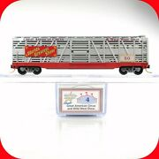 N Scale Lowell Smith American Circus And Wild West 4 Stock Car 50 -- Mtl / Atlas