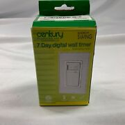Century 7 Day Programmable In-wall Timer Switch - White Energy Saving
