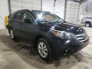 12 13 Cr-v Driver Front Door Electric W/o Security Label On Glass Black