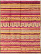 Hand-knotted Transitional Carpet 9and0393 X 12and0391 Area Rug In Gold Purple