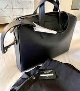 Alfred Dunhill Men's Duke Single-document Leather Briefcase Nwt 2295