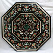 3and039 Marble Dining Table Top Inlay Rare Stone Octagon Center Coffee Table Et