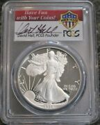 1986 S Pcgs Pr69 Dcam Proof American Silver Eagle David Hall Hand Signed