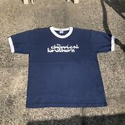 Vintage 1996 The Chemical Brothers Ringer Band Shirt Rare Size Xl Blue