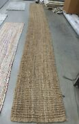 Natural 2'-6 X 20' Loose Threads Rug, Reduced Price 1172627274 Nf447a-220