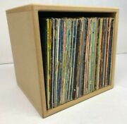 Pair Of 12 Inch Vinyl Record Storage Cube Lp Cabinet Twin Pack Save 20