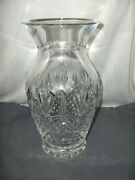 Pre-owned Large Waterford Killarney Crystal Glass 10 Tall Vase Signed Nice