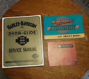 1992 Harley-davidson Dyna Service Manual, Owners Manual And Sales Brochure New