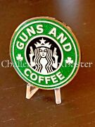 D57 Nypd Sparkle Green Guns And Coffee Challenge Coin